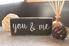 Rustic You & Me sign valentines day sign by CammisCountry on Etsy Valentines Day Decorations, Valentine Day Crafts, Be My Valentine, Holiday Crafts, Valentine Ideas, 2x4 Crafts, Wooden Crafts, Diy Signs, Wall Signs