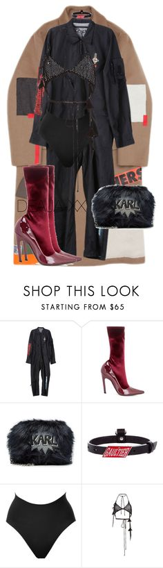 """Untitled #580"" by deaja-xx ❤ liked on Polyvore featuring Raf Simons, Hyein Seo, Balenciaga, Karl Lagerfeld, Jean-Paul Gaultier, SPANX and Philosophy di Lorenzo Serafini"