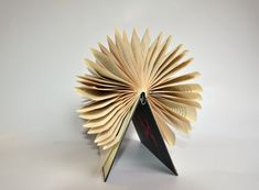 This book sculpture is made of the book: Akte X (The X-Files) A book about the TV-series (in german).    Each book is numbered, signed and stamped with my logo on the page with titel. You can still read the book, if you want. Since it is only folded and not glued, you could open the pages, read it, and than refold it.    The perfect gift for Bibliophiles.  On the bookshelf, Sideboard, coffee table... You can also hang it on the wall.    For Book Statements on request: Since I live in…