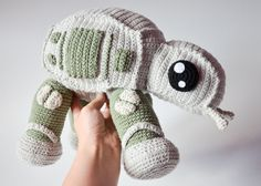 **Please note, this listing is for the PATTERN only, not the finished toy!** Crochet walker, when finished, is 26 cm tall (10.2 inches), 28 cm long (11 inches). He is quite large and therefore we will have a lot of parts to make, please be patient and dont give up because the end result is totally worth it... oh (I almost forgot) May the force be with you!! This pattern is for the medium advanced crocheters but if you are ready to try I am always ready to help. There are a lot of mainly…