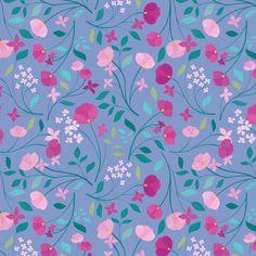 Carly Watts Art & Illustration: Sofia #illustration #floral #repeatpattern #surfacepattern #surfacedesign #art #design