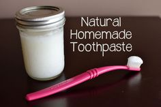 Ditch fluoride, Sodium Lauryl Sulfate (SLS) and glycerin in this simple and healthy non-toxic toothpaste that only takes a few minutes to whip up! Recipe fro...