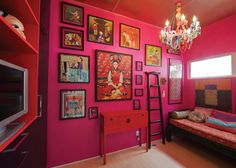 i sometimes still think of painting the inner mexican kitchen pantry a bright pink color....gotta consider it!
