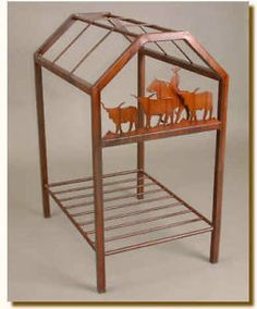 Perfect Display Stand For Your Saddle Square Tubing Metal With Steer And Rider Cutouts An Additional Storage E Below