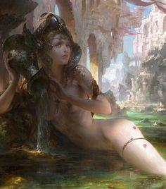 'Aquarius' ~by Guangjian Huang (artstation) - (detail)