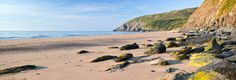 Penbryn Beach, Ceredigion - features in the James Bond film Die Another Day