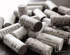 """""""Wine Corks""""- Collection of wine corks. Great bar or kitchen decor. Fine Art Print. Professionally printed upon order. My photographs are professionally printed with archival inks on premium acid-free"""