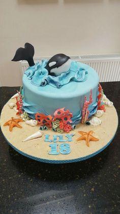 Birthday Cake Kids Ocean Ideas For 2019 Whale Cakes, Dolphin Cakes, Ocean Cakes, Beach Cakes, Themed Birthday Cakes, Themed Cakes, Whale Birthday Cakes, 4th Birthday, Birthday Ideas