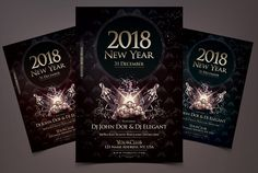 2018 NYE - Elegant Flyer Template by Fidan Selmani on @creativemarket