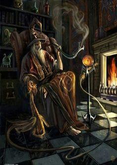 m Wizard tower pipe library magic books Pseudodragon familiar lab story hilvl Fire-Magic. Dark Fantasy, Fantasy World, Fantasy Kunst, Fantasy Art, Fire Magic, Mago Anime, Male Witch, Fantasy Wizard, Gandalf