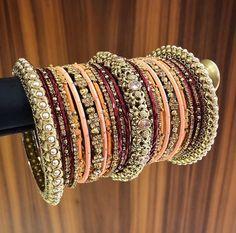 Pinterest: @AditiMaharaj Bridal Bangles, Bridal Jewelry Sets, Indian Wedding Jewelry, Indian Jewelry, Indian Bangles, Bangle Set, Bangle Bracelets, Bollywood Jewelry, Fashion Jewelry