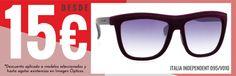 Gafas de sol de Versace, Dsquared, Prada, Calvin Klein, Opposit, Italia Independent y muchas más desde sólo 15 €.