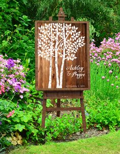 Aspen Birch Tree Guest Poster outdoor wedding.jpg
