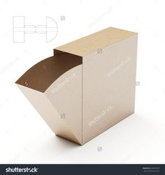 Slim Dispenser Box with Die Cut Template