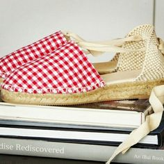 Gingham collection espadrille mini wedges by mumishoes