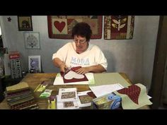 Jan Patek demonstrates how she uses freezer paper to transfer the shapes to fabric for the needle turn applique technique. When I do hand applique, I use the freezer paper to help me turn under the raw edges with glue stick. Quilting Templates, Applique Templates, Applique Patterns, Quilting Tips, Quilting Tutorials, Sewing Tutorials, Paper Templates, Applique Stitches, Hand Applique
