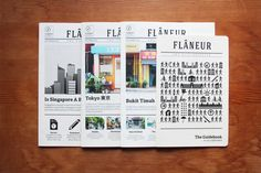 Flâneur Journals & Guidebook by Shawn Li, via Behance