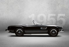 1955 - BMW 507 Roadster - The 'Dream of Islar' In 1955, BMW achieves a great success with the BMW 507: the dream roadster with its dynamic silhouette and its broad, flat kidney grille steals the show from the competition – and not only during its premier at the International Motor Show (IAA). Photo Credit: BMW