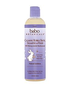 Babo Botanicals Natural Lavender Meadowsweet 3 in 1 Baby Bubble Bath Shampoo Wash Sulfate Free 15 Ounce -- Visit the image link more details. All Natural Skin Care, Natural Baby, Soften Hair, Hair Cleanse, Organic Shampoo, Baby Shampoo, Natural Solutions, Body Wash, Health And Beauty