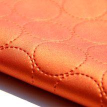 For Certain 9450-05 Mabika #orange #upholstery #heavyduty #josephnoble #circles #pattern #texture