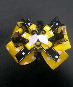 Busy Bee Hairbow Headband/Ladybug Hairbow by PinkToesAndHairBows, $8.95