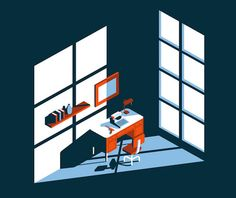 Minimalist, flat illustrations by Jeremy Booth. Jeremy Booth is a freelance illustrator and graphic designer who currently lives in Louisville, Kentucky. Flat Design Illustration, People Illustration, Digital Illustration, Graphic Illustration, Business Illustration, Isometric Art, Isometric Design, Booth, Art Graphique