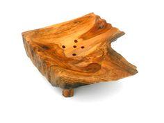 Natural Teak Wood Soap Dish Rustic Driftwood  by WoodCarvingArt