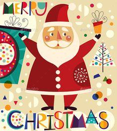 Christmas Illustration — JPG Image #greeting #season • Available here → https://graphicriver.net/item/christmas-illustration/9536025?ref=pxcr