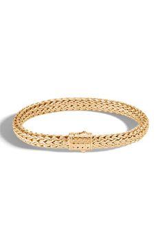 N56JH John Hardy Men's Classic Chain 18k Yellow Gold Bracelet Saint Louis Crystal, John Hardy, Valentino Garavani, Fashion Bracelets, Tech Accessories, Neiman Marcus, Chain, Yellow, Classic