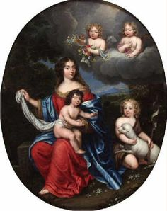 Madame Montespan and her children by Louis XIV, attributed to Pierre or Nicolas Mignard