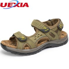 0d884c224e940 New Fashion Summer Leisure Outdoor Casual Massage Soft Sole Beach Men Shoes  High Quality Leather Rubber bottom Men s Sandals