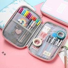Pencil Case Big Capacity Pen Case Desk Kids Pencilcase Organizer with Zipper for School Office Supplies Cute Pencil Case, Pencil Pouch, Hanging Cosmetic Bag, Bag In Bag, Make Up Organizer, School Accessories, Kid Desk, School Stationery, Office And School Supplies