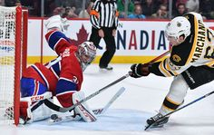 MONTREAL, QC - DECEMBER 12: Carey Price #31 of the Montreal Canadiens stops a shot by Brad Marchand #63 of the Boston Bruins in the NHL game at the Bell Centre on December 12, 2016 in Montreal, Quebec, Canada. (Photo by Francois Lacasse/NHLI via Getty Images)