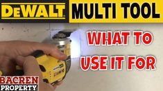 20 ways to use a Multi Tool | Dewalt - YouTube Dewalt Power Tools, What To Use, Diy, Youtube, Ideas, Bricolage, Do It Yourself, Thoughts, Homemade