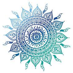 Blue Gradient Mandala  by adjsr