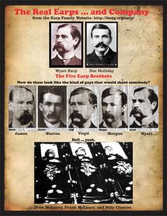 image of the lawmen who shot and killed the Clantons and McClary's 2017 Wyatt Earp Tombstone, Tombstone Arizona, Old West Outlaws, Famous Outlaws, Old West Photos, Family Website, Westerns, Doc Holliday, Saints And Sinners