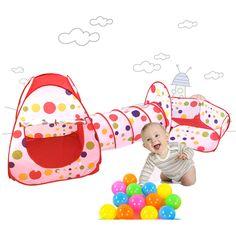 Baby Kinder Spielhaus childrentunnel Pool Rohr Tipi 3 Stück Pop up spielen Zelt Baby Spielzeug Freies Verschiffen in                                   &n aus Spielzeug Zelte auf AliExpress.com | Alibaba Group