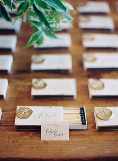 Easton Events | Old World Glamour | Custom Matchbooks | Photography by Eric Kelley
