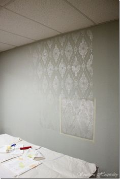 Diamond Damask Stencil....now I just have to figure out what wall I want to try this on.
