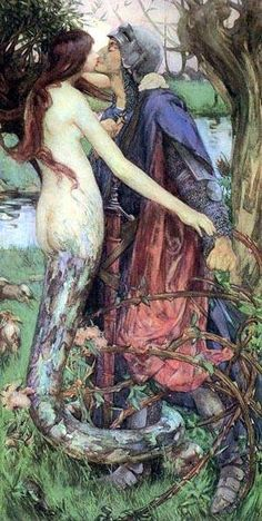 The Kiss of the Enchantress, 1890. By Isobel Lilian Gloag.