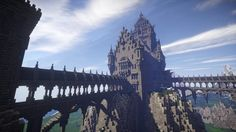 Post with 10484 views. Minecraft Mountain Castle, Minecraft Medieval Castle, Minecraft Building Blueprints, Minecraft Palace, Minecraft City, Minecraft Construction, Minecraft Designs, Minecraft Ideas, Minecraft Crafts