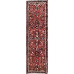 ecarpetgallery Hand-knotted Persian Lilihan Brown Wool Rug (3' x 10'5)