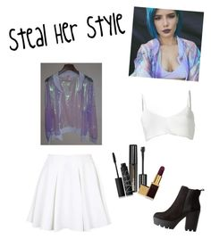 steal her style: halsey by jessie-9-0-4 on Polyvore featuring polyvore, fashion, style, Area Di Barbara Bologna, Topshop, Charlotte Russe, Maybelline and NARS Cosmetics