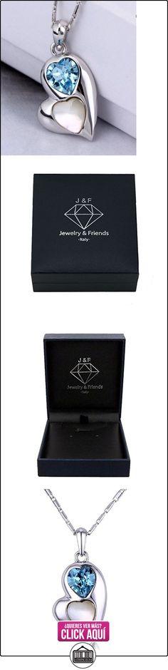 J&F - Collar de mujer con corazón y cristal Swarovski Crystal, bañado en rodio  ✿ Joyas para mujer - Las mejores ofertas ✿ ▬► Ver oferta: https://comprar.io/goto/B00ZS03BCG