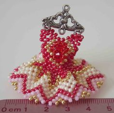 Miniature Beaded Dress