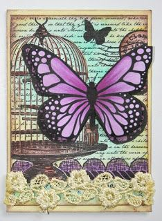 Layers of Color ATC by Melisa Waldorf - Cards and Paper Crafts at Splitcoaststampers Atc Cards, Card Tags, Paper Cards, Decoupage, Art Trading Cards, Artist Card, Art Journal Pages, Junk Journal, Butterfly Art