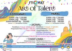 Here it is... Photography & Mural Competition 2015! For more information please click this web www.ftiartuajy.com