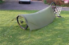 Bikepacking & Bicycle Touring » Bike + Tarp (w/ no poles) -- BackpackingLight.com Forums