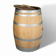 A rain barrel, or water butt, is a barrel that collects rainwater directly or via the gutters of a house, where it is stored for future use to water the lawn and garden. The barrel is made from a 225 litre solid oak barrel.