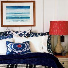 Batten board walls for cottage room @Coastal living
